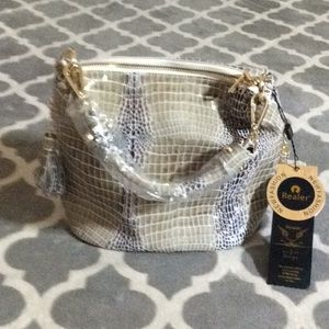 Realer medium snakeskin bag NWT